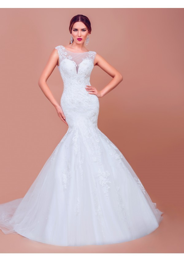 vestido de novia diseño sofisticado estilo  Sandra