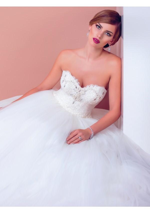 vestido de novia esplendido tul moderno diseño Sharon