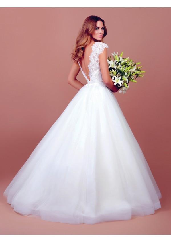 vestido de novia princesa tafta tul precioso Stephanie increible