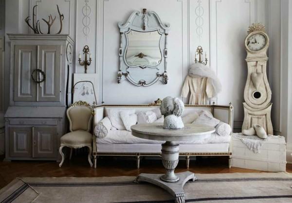 vintage shabby chic decoración mármol