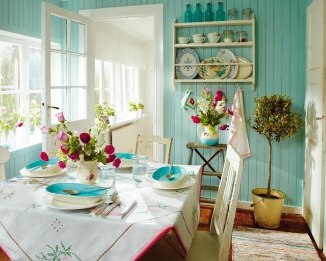 Vintage estilo retro cl sico en la cocina - Cortinas estilo vintage ...