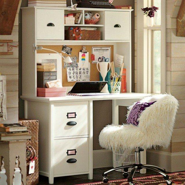 zona estudio silla diseño moderno pelos blanco