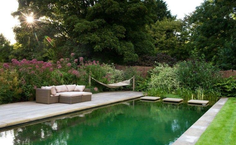 Amanda Patton diseno jardin moderno piscina muebles plantas piscina ideas