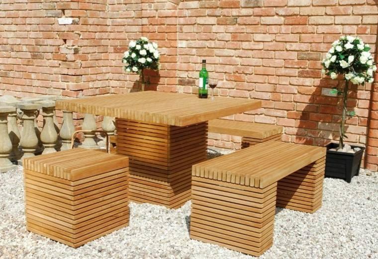 Madera de teca para los muebles de jard n - Muebles de madera teca ...