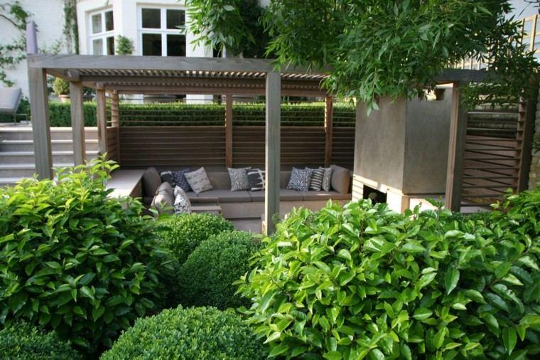 Charlotte Rowe jardin arbustos verde pergola lugar descanso ideas