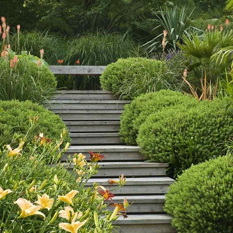 Debbie Roberts escaleras piedra jardin diseno ideas