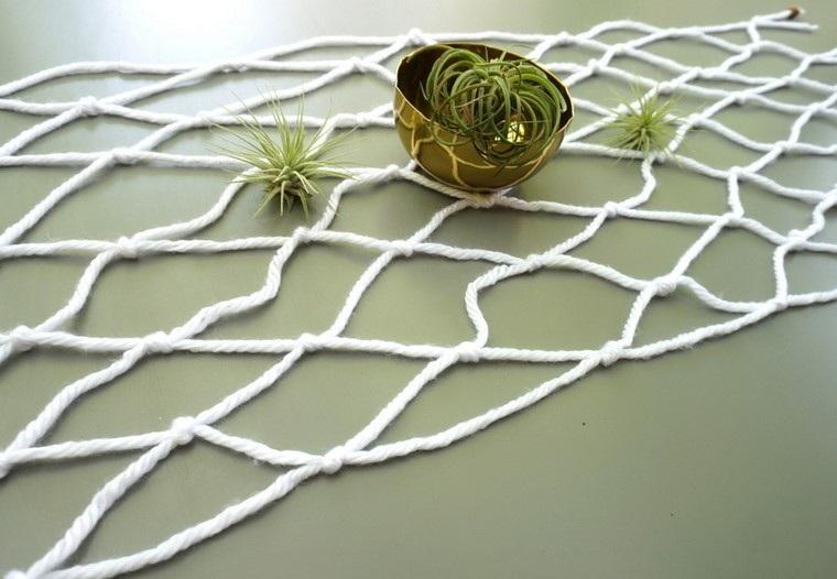 macrame plantas decoración cuenco