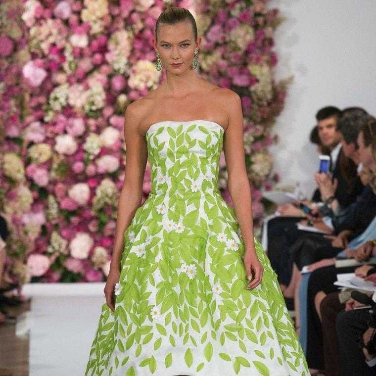 Oscar de la Renta vestido verde