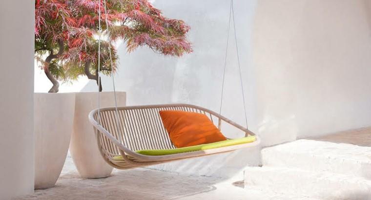 Paola Lenti sillones colgantes ideas jardin modernas