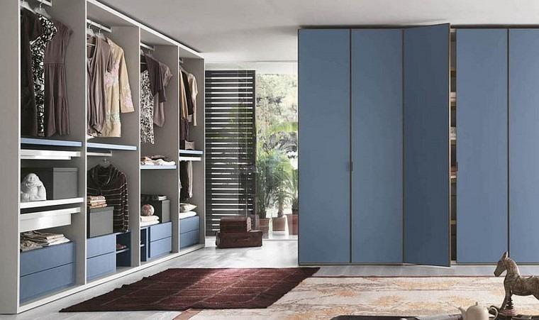 acabados azul idea precioso armarios idea dormitorio