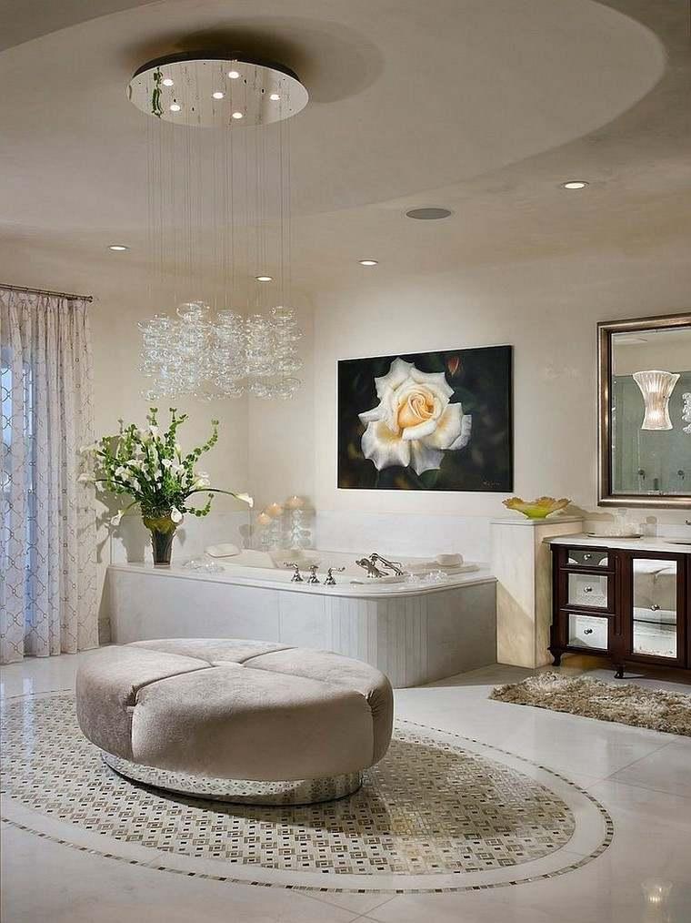 accesorios baño estilo conteporaneo lampara preciosa ideas