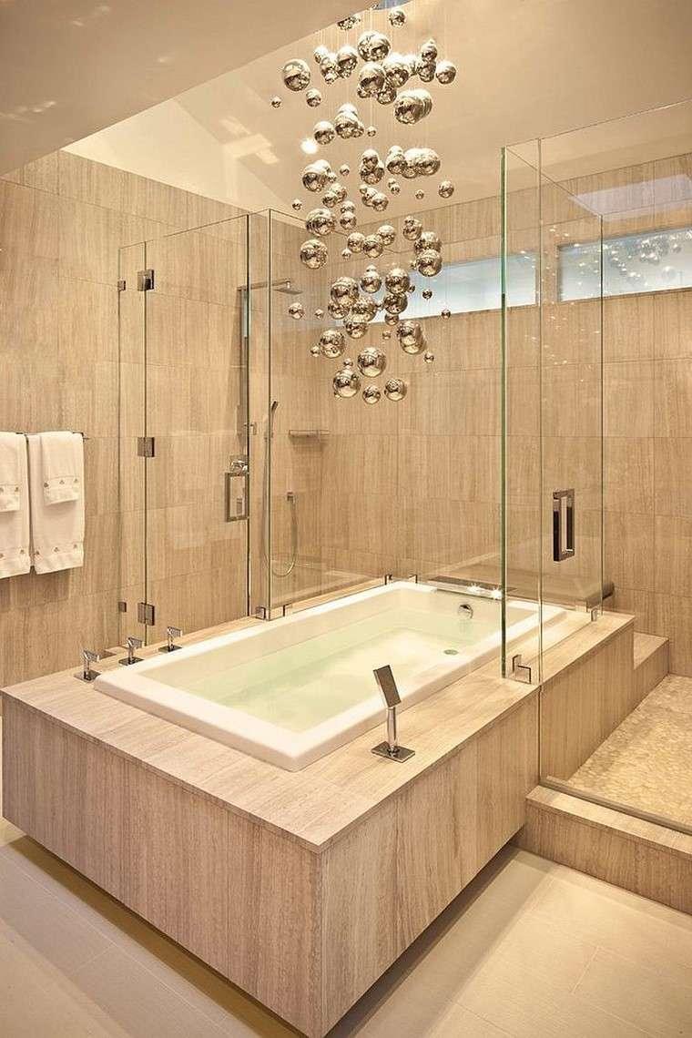 accesorios baño magia metalica lampara cuelga techo ideas