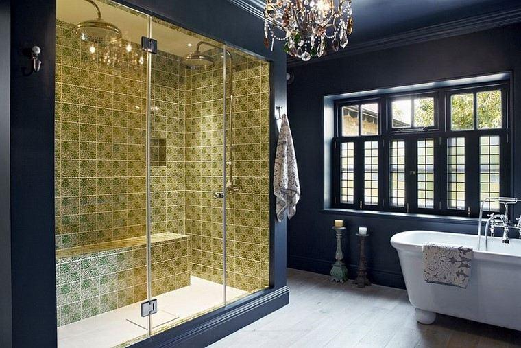 accesorios bano mampara ducha cristal transparente moderna