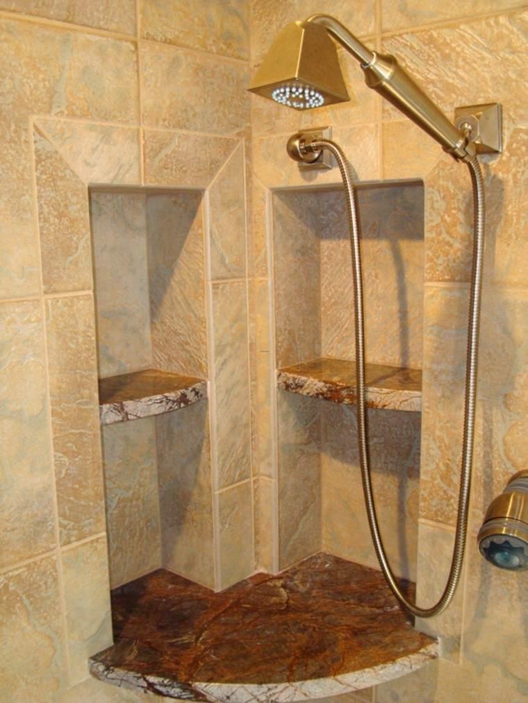 Decoraci n ba os con duchas de dise o for Duchas rusticas piedra