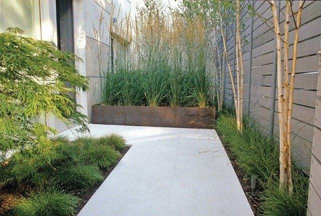 acero corten jardinera moderna diseño