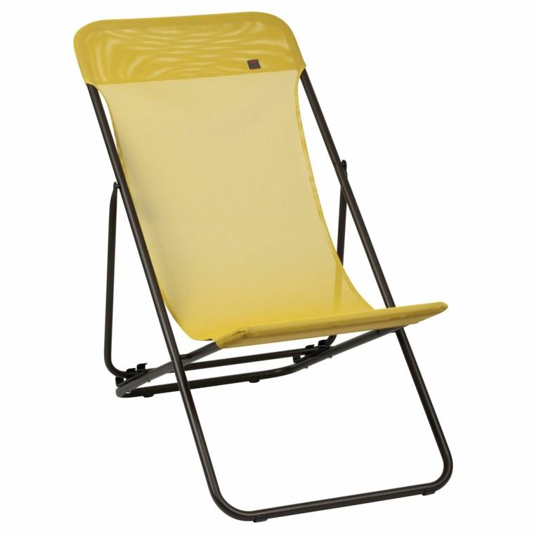 acero textileno amarilla desmontable ligera playa
