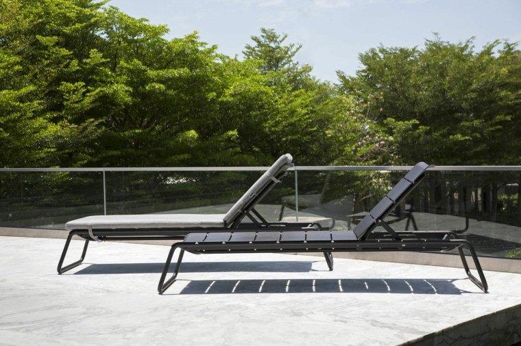 ajustable jardin alumino acolchonada patio