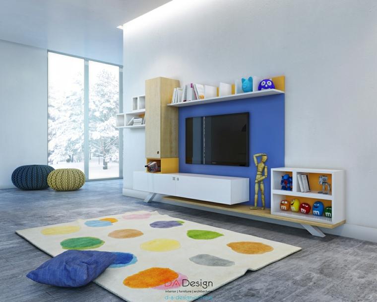 alfombra colores twister azul marino