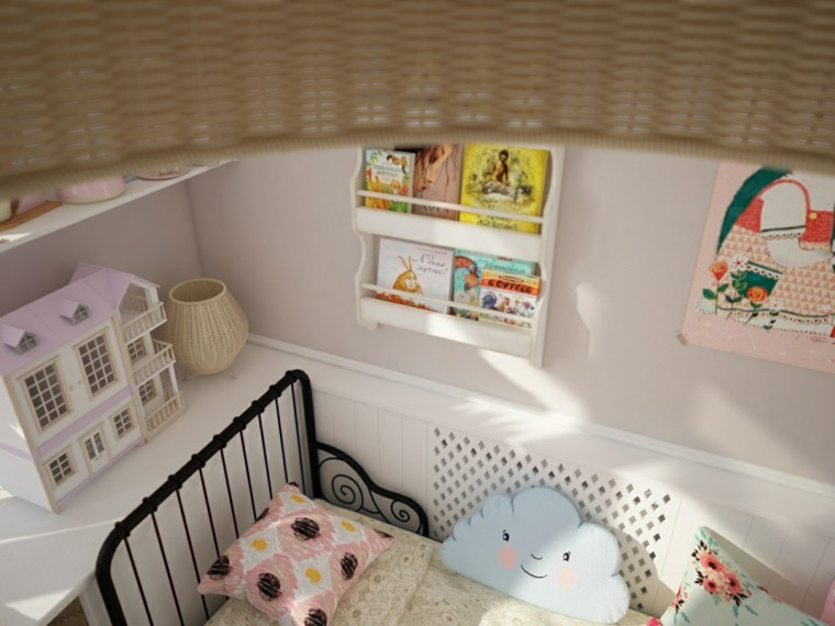 almohadas decoracion detalles cuarto libros