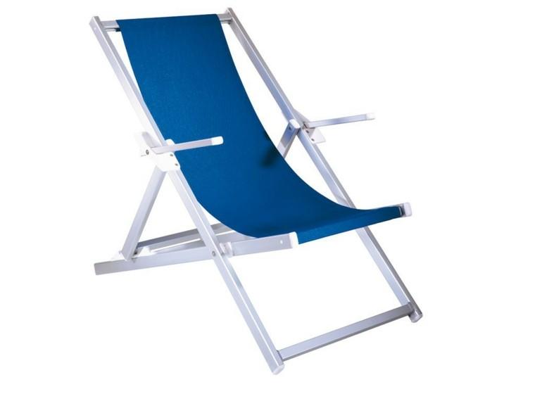 aluminio ligera reposabrazos azul playa