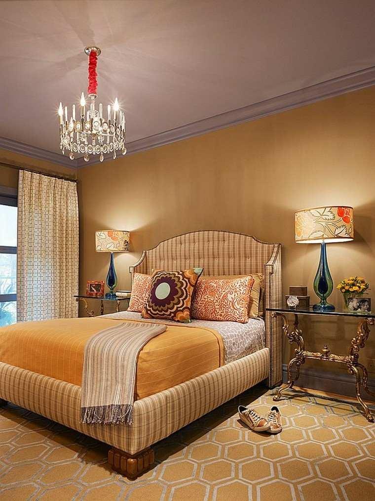 amarillo distintas gamas dormitorio mesitas cristal ideas