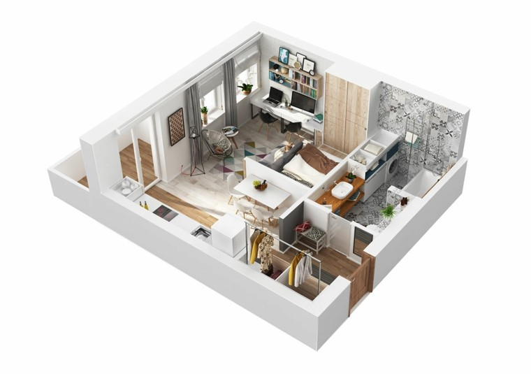 apartamentos pequenos diseno original ideas diseno