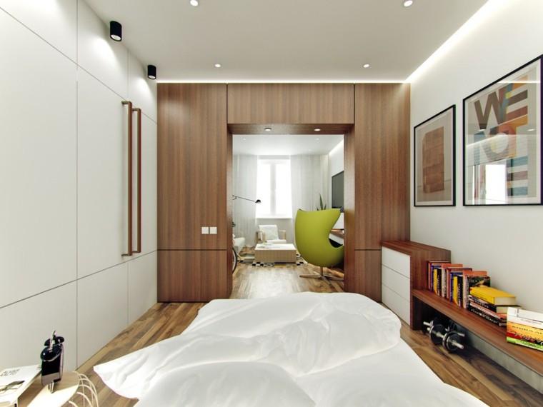 apartamentos pequenos dormitorio abierto diseno salon