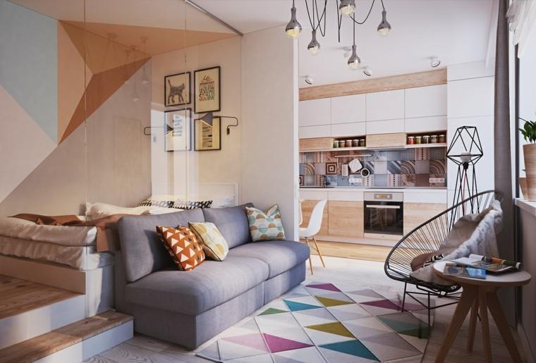 apartamentos pequenos dormitorio crital diseno tranparente