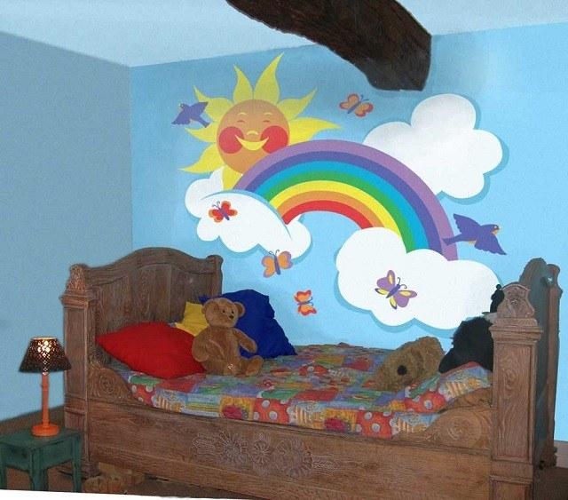 arcoiris decoración ideas oso lampara