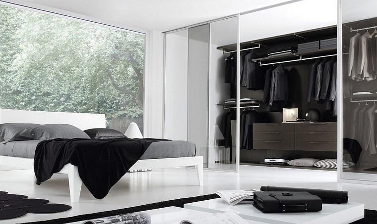 armario abierto dormitorio amplio grande idea moderno
