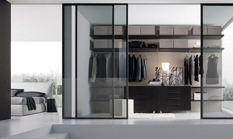 armario dormitorios espaciosos puertas cristal ideas transparente
