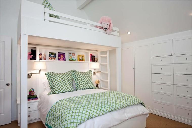 armario empotrado cajones blanco ideas habitacion chicas