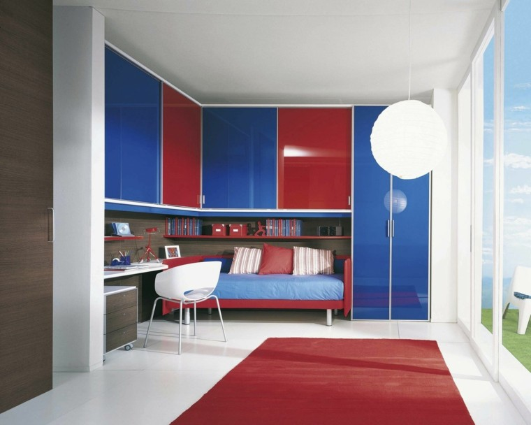Armarios empotrados para el dormitorio del ni o - Interesting images of red and blue bedroom decorating design ideas ...