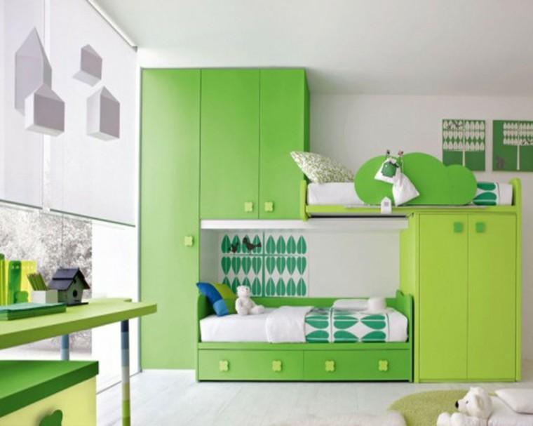 armario empotrado verde grande ideas espacioso