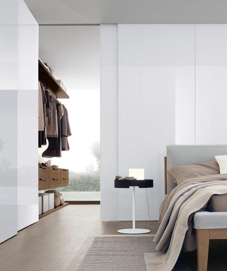 armario esquina dormitorio estanterias moderno elegante
