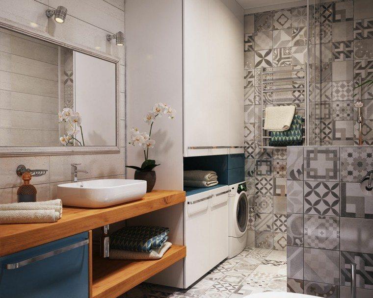 armario grande bano encimera lavabo diseno madera