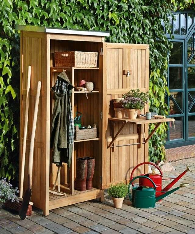 Casa en constructor armario teca terraza - Armario para jardin ...