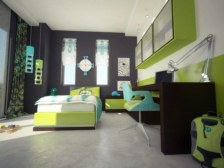 armario verde colgado pareideas ideas bonitas