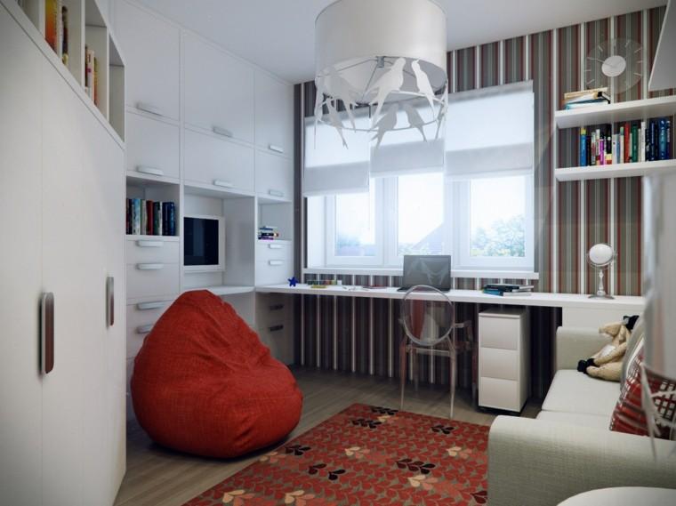 armarios empotrados blanco ideas escritorio moderno