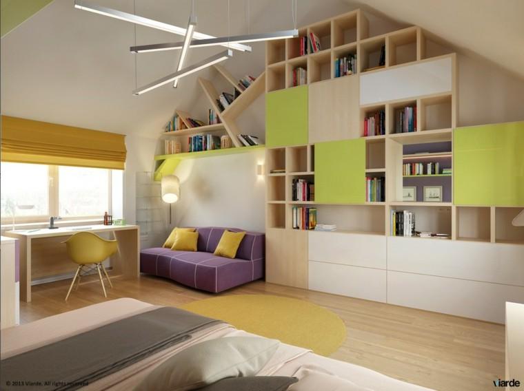 armarios empotrados estanterias madera ideas beige
