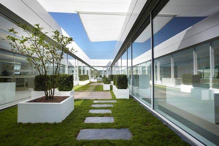 arquitectura minimalista jardin estrecho moderno