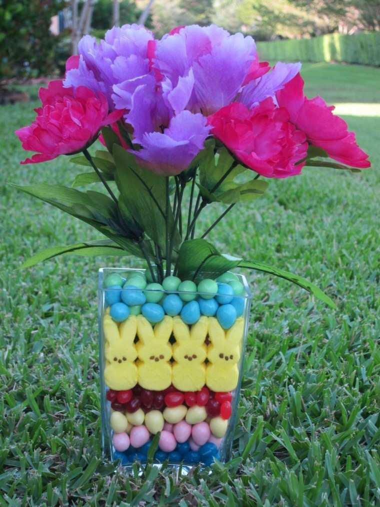 arreglo floral pascua pollos huevos ideas modernas