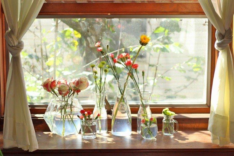 arreglos florales emvases cristal distintos ideas modernas
