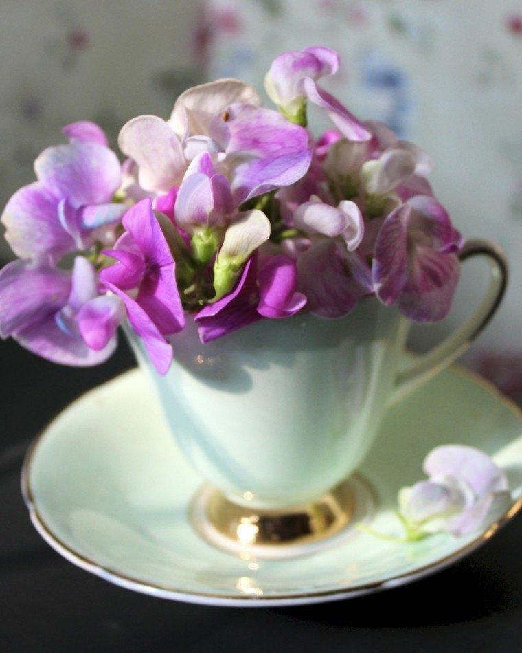 arreglos florales vaso te color bonito ideas modernas