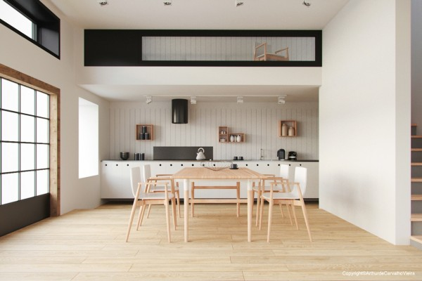 arthur mesa moderna comedor madera