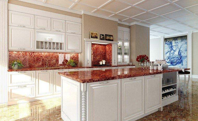 Cocinas r sticas con un toque muy art stico - Diseno de chimeneas rusticas ...