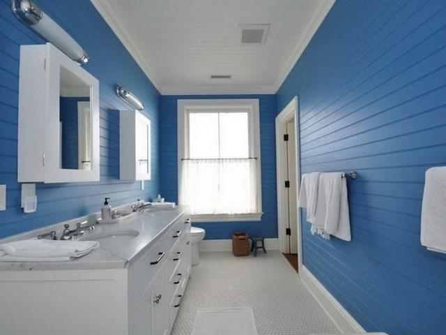 azul contraste blanco ventana marinero estilo