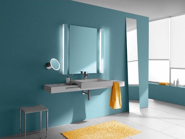 azul espejos naranja moderno contraste diseño