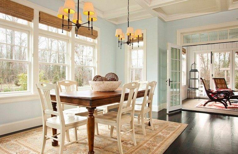 azul neutral blanco espacio lamparas muebles