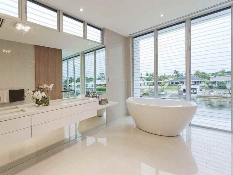 Baños Diseno Blancos:Azulejos baño en los diseños de última moda